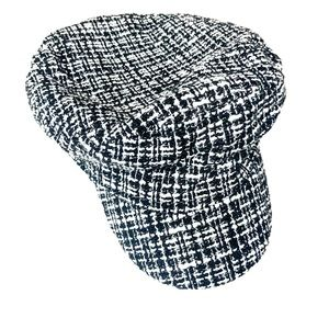 Paper boy Hat black and white